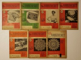 Workbasket Magazine Lot January-April July August November 1956 - $19.79