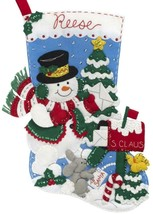 Bucilla Snowman Mailbox Christmas Letters to Santa Mail Felt Stocking Kit 89067E - $39.95