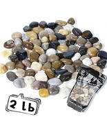 OUPENG Pebbles Polished Gravel, Natural Polished Mixed Color Stones, Sma... - $15.99