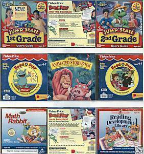 (9)CD SETS:READING/ MATH SKILLS; AGES 4-7;1st-2nd Grades