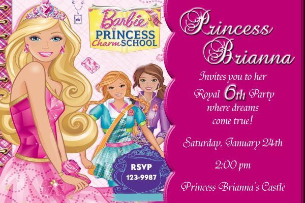 Barbie Charm School Birthday Invitation Photo Digital File You Print
