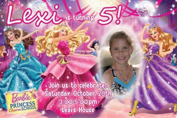 Barbie Charm School Birthday  Invitations includes envelopes