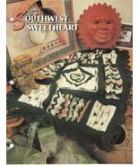 Southwest SweetHeart Pattern Crochet Annies Attic Crochet Quilt & Afghan... - $8.50