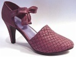 Blush Modern Crossover Design High Heel StylePretty Bow Just the Right Shoe - $24.99