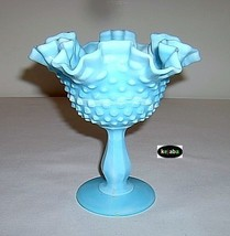 Fenton Blue Marble Hobnail Compote - $21.95