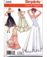 Simplicity 5006 Misses' LINGERIE CORSET PETTICOAT Pattern 14-20 - $6.95