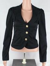 Guess Jeans Mujer Algodón Elástico Elastano Chaqueta Corto Negra TALLA XS - $22.02