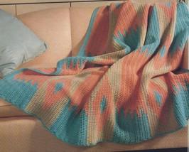 Gorgeous~Navajo Afghan Crochet Pattern - $9.99