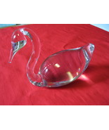 Vintage Art Glass Crystal Swan Figure or Paperweight Sculpture - $59.99