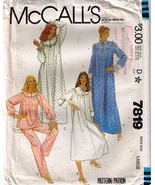 1981 ROBE-NIGHTGOWN-PAJAMAS Pattern 7819-m Size Large Uncut - $10.99
