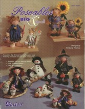 WOODEN POSEABLE DOLLS BIG & SMALL / DARICE - $6.95