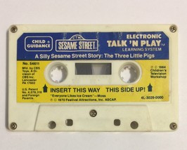 Silly Sesame Street Story The Three Little Pigs Cassette Electronic Talk... - $7.91