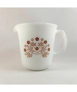 Corning Summer Impressions Ginger Creamer USA Milk Glass Vintage - $14.80