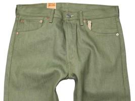 NEW LEVI'S 501 MEN'S ORIGINAL FIT STRAIGHT LEG JEANS BUTTON FLY OLIVE 501-1437 image 2