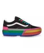 NIB*Vans*Glitter Old Skool Stacked Platform*Sneaker*Black Rainbow*Womens 6-10 - $140.00