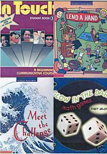 (4) BOOKS ON LITERACY,COMMUNICATION,MATH FOR GRADES 3-6