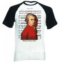 Wolgfang Amadeus Mozart Music Composer - New Baseball Cotton Tshirt - $27.10