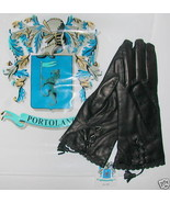PORTOLANO Brown Nappa Leather Gloves Sz 6.5 $18... - $47.87