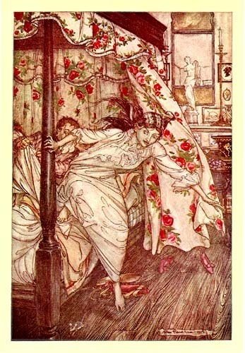 1900s ARTHUR RACKHAM Aesop's Fables Book Art Plate VENUS and