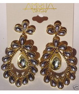 AMRITA SINGH Nargis Pearl Crystal Earrings NEW ... - $33.50