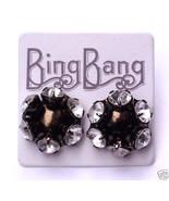 BING BANG Rhinestone Flower Crystal Stud Earrin... - $28.72