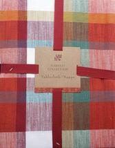 "Well Dressed Home Fall Plaid Red Orange Blue Green Yellow Tablecloth 84"" - $39.99"