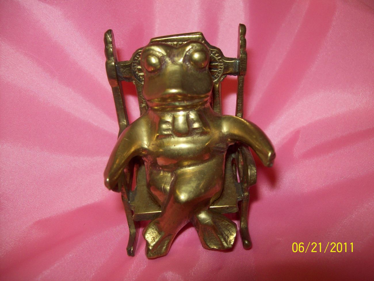 Rocking Toad / Frog on a Rocking Chair OOAK Unique Collectible