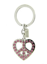 COACH Pave Peace Heart Keychain Fob NWOT 92691 - $60.00
