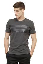 Kenneth Cole Reaction Men's Short-Sleeve Crewneck Faux-Leather Stripes C... - $25.24