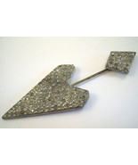Art deco thirties arrow two piece style stick pin - $15.00