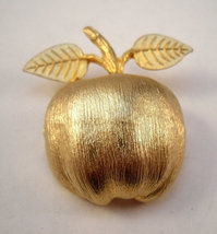 Accessocraft golden apple brooch - $12.99