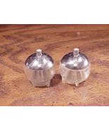 Spacey Looking Spherical Plastic Salt and Pepper Shakers - $5.95