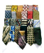 Bulk Lot 25 Men's Neckties Silk Polyester Striped Geometric Abstract - $33.06
