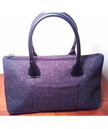 Ohh! Ashley Gray Wool and Leather Handbag - $32.00