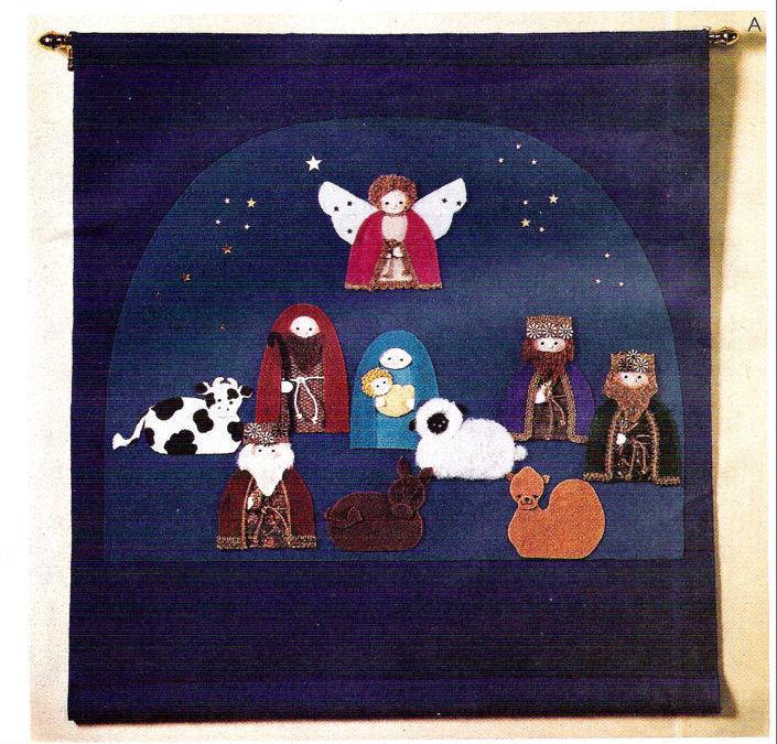 McCall's Crafts 2996 Nativity Scene Ornament Wall Hanging Pattern
