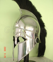 Medieval Greek CORINTHIAN HELMET,  Larp Armor Helmets, Fancy New Xmas Gitts - $36.24