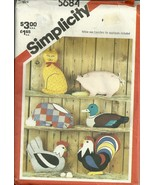 SIMPLICITY #5684 CRAFT PATTERN / 1982 FARM ANIMALS - $7.50