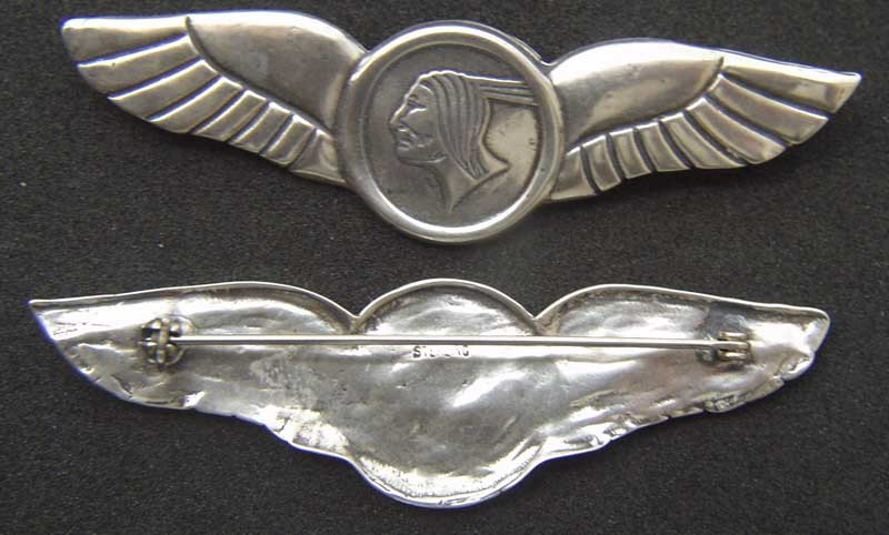 Mohawk Airline Wings Sterling Silver