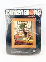 Vintage Dimensions Needlepoint COZY HEARTH 1980 Mary Smith #2146 - $21.99