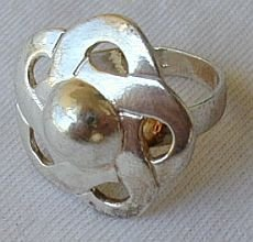 Shiny Silver flower ring