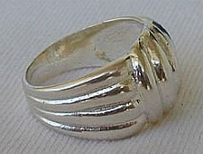 Shiny silver ring