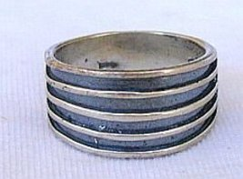 Strips silver ring-A5 - $18.00