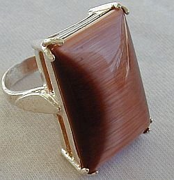Primary image for brown cat eye ring