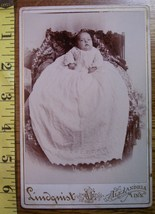 Cabinet Card Cute Fat Faced Baby Long Dress! c.1866-80 - $5.60