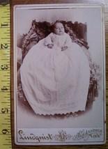 Cabinet Card Cute Fat Faced Baby Long Dress! c.1866-80 - $5.00