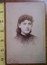 Cabinet Card Beautiful Young Lady w/Lovely Eyes! c.1866-80 - $4.00
