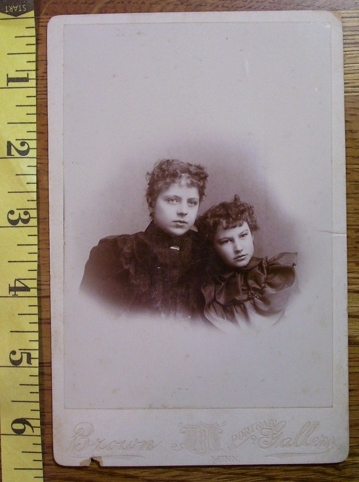 Primary image for Cabinet Card Two Pretty Young Sisters Vignette! c.1866-80