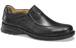 Mens Dockers Agent Slip On Shoes - Black Leather Size 12 [90-29034] - $74.99