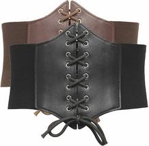 GRACE KARIN Lace-up Cinch Belt Tied Corset Elastic Waist Belt - $34.94+