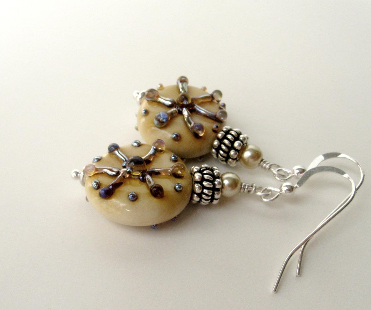 Handmade ocean themed earrings.